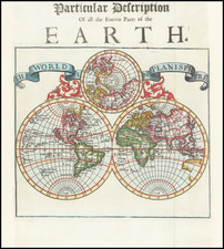 The World In Planisphere By Herman Moll