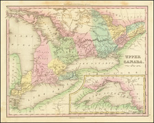 Michigan and Eastern Canada Map By Henry Schenk Tanner