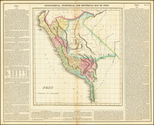 Geographical, Statistical and Historical Map of Peru By Henry Charles Carey  &  Isaac Lea