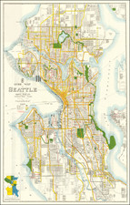 Washington Map By Kroll Map Company