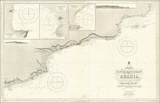 Arabian Peninsula Map By British Admiralty