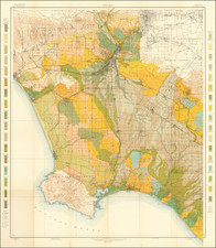 California, Los Angeles and Geological Map By U.S. Department of Agriculture