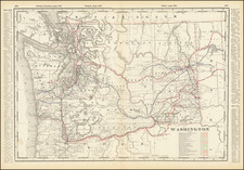 Washington Map By George F. Cram