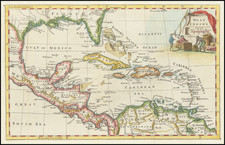 Florida and Caribbean Map By Thomas Jefferys