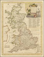 British Isles Map By John Senex