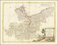 Germany Map By Antonio Zatta