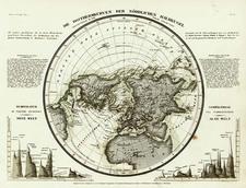 World, Northern Hemisphere, Polar Maps and Curiosities Map By Joseph Meyer