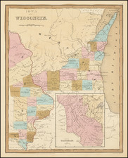 Midwest, Wisconsin, Plains and Iowa Map By Thomas Gamaliel Bradford