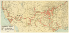 United States, Texas, Plains, Southwest, Rocky Mountains and California Map By M. B. Brown Printing & Binding Co.