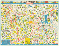 Nevada and Pictorial Maps Map By George Ramsey