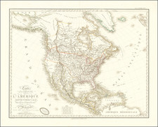 North America Map By Adrien-Hubert Brué