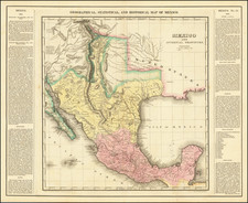 Texas, Plains, Southwest, Colorado, Utah, New Mexico, Rocky Mountains, Colorado, Utah, Mexico and Baja California Map By Henry Charles Carey  &  Isaac Lea