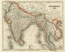Asia, India, Southeast Asia and Central Asia & Caucasus Map By Joseph Meyer