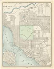 San Diego Map By George F. Cram