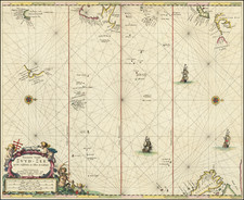Japan, Pacific, Australia, Oceania, New Zealand, Other Pacific Islands and California as an Island Map By Pieter Goos