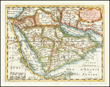 Middle East and Arabian Peninsula Map By Nicolas Sanson