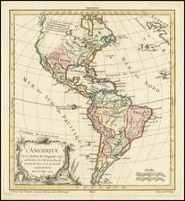 America Map By Didier Robert de Vaugondy