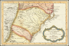 Southeast, Georgia, North Carolina and South Carolina Map By Jacques Nicolas Bellin