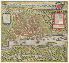 India and Other Islands Map By Theodor De Bry