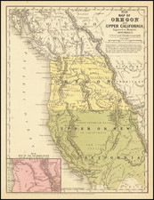 Southwest and California Map By Samuel Augustus Mitchell