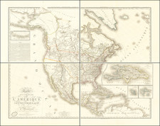 United States, Plains, Rocky Mountains, Pacific Northwest and North America Map By Adrien-Hubert Brué
