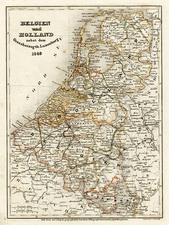 Europe and Netherlands Map By Joseph Meyer