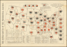 United States and Curiosities Map By Harper's Weekly