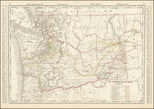 Washington Map By George F. Cram