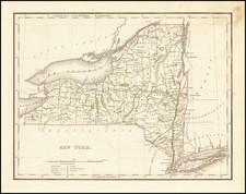 New York State Map By Thomas Gamaliel Bradford