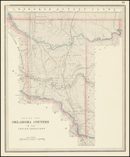 Oklahoma & Indian Territory Map By George F. Cram