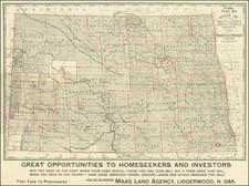 North Dakota Map By Brown, Treacy & Sperry Co.