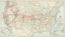 United States Map By Rand McNally & Company / Union Pacific Railroad Company
