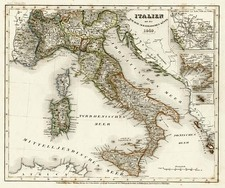 Europe, Balkans and Italy Map By Joseph Meyer
