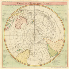 Polar Maps, Australia and Oceania Map By Jacques Nicolas Bellin / James Cook