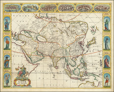Asia Map By Frederick De Wit
