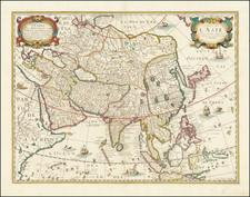 Asia Map By Melchior Tavernier