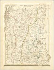 New Hampshire and Vermont Map By Thomas Gamaliel Bradford
