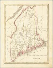 Maine Map By Thomas Gamaliel Bradford