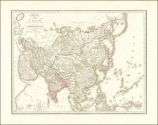 Asia Map By Adrien-Hubert Brué
