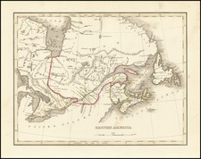 Eastern Canada Map By Thomas Gamaliel Bradford