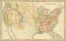 United States Map By Taliaferro Preston  Shaffner