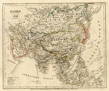 Asia and Asia Map By Joseph Meyer