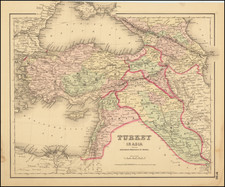 Colton's Turkey in Asia and the Caucasian Provinces of Russia [shows Cyprus] By Joseph Hutchins Colton