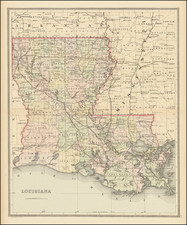 Louisiana Map By William Bradley