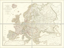 Europe Map By Adrien-Hubert Brué