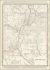 New Mexico Map By George F. Cram