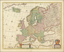 Europe Map By Nicolaes Visscher I