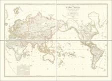 World Map By Adrien-Hubert Brué