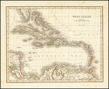 Caribbean Map By Thomas Gamaliel Bradford