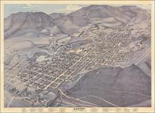 Colorado and Colorado Map By Augustus Koch